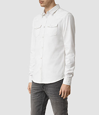 Mens Gered Shirt (White) - product_image_alt_text_3