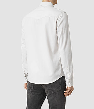 Mens Gered Shirt (White) - product_image_alt_text_4