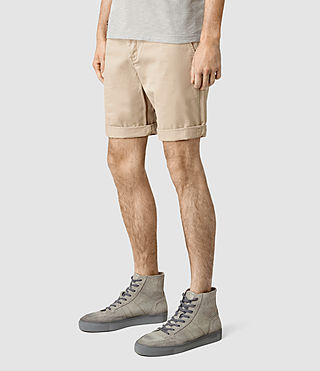 Mens Mitre Lumen Shorts (SAND BROWN) - product_image_alt_text_2