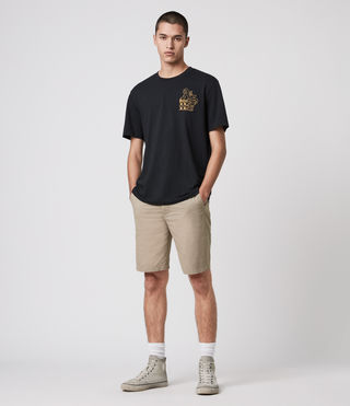 Mens Colbalt Chino Shorts (Sand) - product_image_alt_text_1