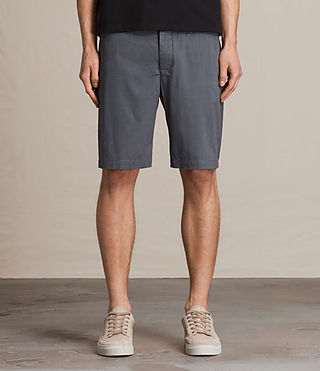 Mens Colbalt Chino Shorts (Petrol Blue) - product_image_alt_text_1
