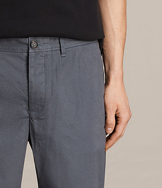 Mens Colbalt Chino Shorts (Petrol Blue) - product_image_alt_text_2
