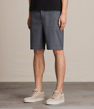 Mens Colbalt Chino Shorts (Petrol Blue) - product_image_alt_text_3