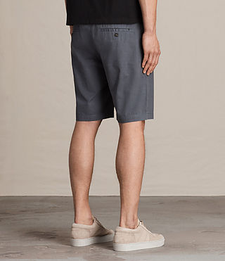 Mens Colbalt Chino Shorts (Petrol Blue) - product_image_alt_text_4
