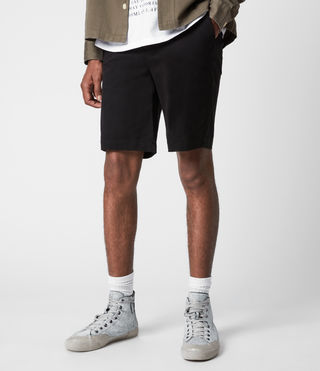Mens Colbalt Chino Shorts (Black) - product_image_alt_text_4
