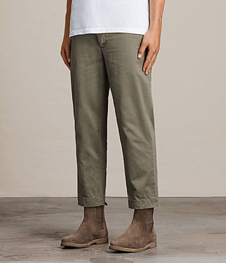 Men's Corp Chino (Khaki Green) - product_image_alt_text_3