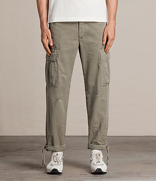 Men's Salter Cargo Trouser (Khaki Green) - product_image_alt_text_2