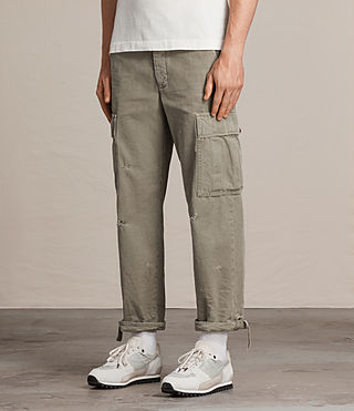Men's Salter Cargo Trouser (Khaki Green) - product_image_alt_text_4