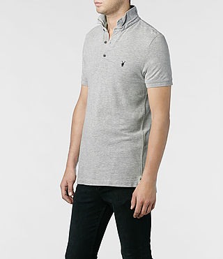 Men's Sandringham Polo (Grey Marl) - product_image_alt_text_2