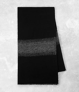 Hombres Bande Scarf (Black) - product_image_alt_text_4