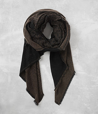 Men's Tarn Scarf (BLACK/DARK KHAKI)