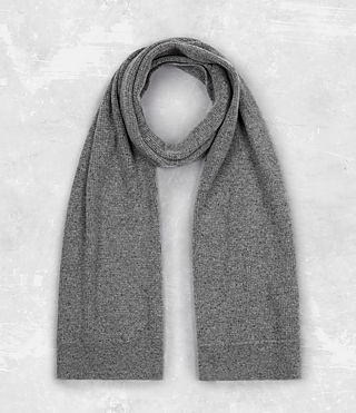 Mens Hiru Cashmere Scarf (Grey Marl) - product_image_alt_text_1