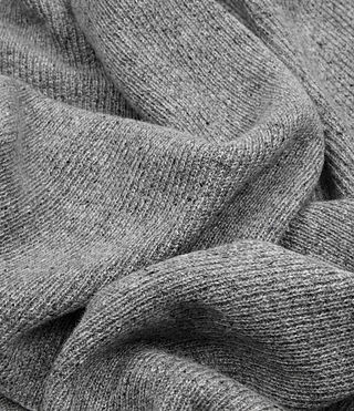 Mens Hiru Cashmere Scarf (Grey Marl) - product_image_alt_text_2