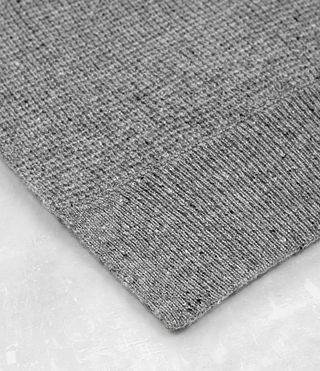 Mens Hiru Cashmere Scarf (Grey Marl) - product_image_alt_text_3