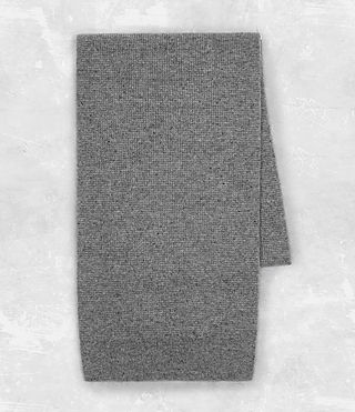 Mens Hiru Cashmere Scarf (Grey Marl) - product_image_alt_text_4