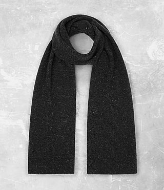 Hombre Hiru Cashmere Scarf (Charcoal Marl) - product_image_alt_text_1