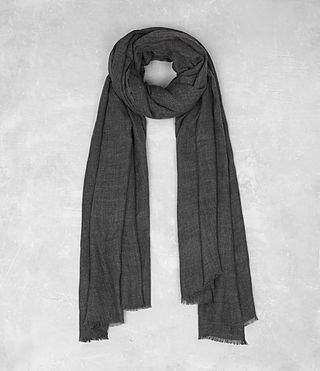Mens Maxim Scarf (Charcoal) - product_image_alt_text_1