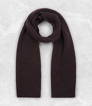 Mens Tornn Scarf (DAMSON RED MARL) - product_image_alt_text_1