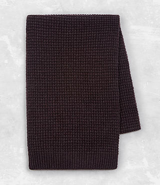 Mens Tornn Scarf (DAMSON RED MARL) - product_image_alt_text_4