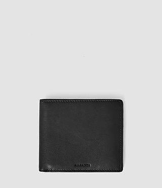 Mens Attain Leather Cardholder (Washed Black)