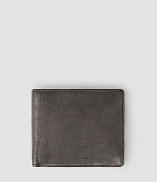 Hommes Attain Leather Cardholder (Slate Grey)