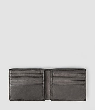 Uomo Attain Leather Cardholder (Slate Grey) - product_image_alt_text_3