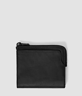Mens Cleat Leather Wallet (Washed Black) - product_image_alt_text_1