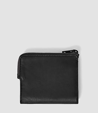 Mens Cleat Leather Wallet (Washed Black) - product_image_alt_text_2