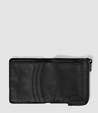 Herren Cleat Leather Wallet (Washed Black) - product_image_alt_text_3