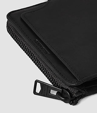 Mens Cleat Leather Wallet (Washed Black) - product_image_alt_text_4