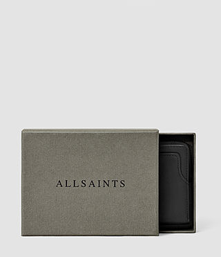 Mens Cleat Leather Wallet (Washed Black) - product_image_alt_text_5
