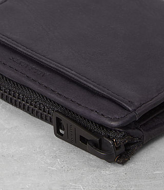 Mens Cleat Leather Wallet (Washed ink) - Image 2
