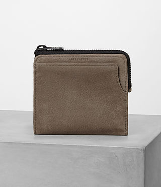 Uomo Cleat Leather Wallet (Washed Taupe)