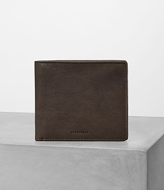 Hommes Attain Leather Cardholder (Choc)