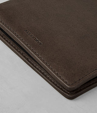 Mens Attain Leather Cardholder (Choc) - product_image_alt_text_2