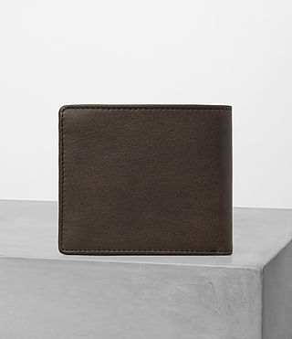Mens Attain Leather Cardholder (Choc) - product_image_alt_text_4