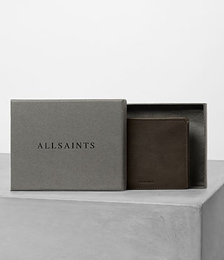 Hombres Attain Leather Cardholder (Choc) - product_image_alt_text_5