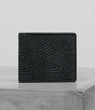 Men's Attain Cardholder (BLACK SUEDE TWEED) -