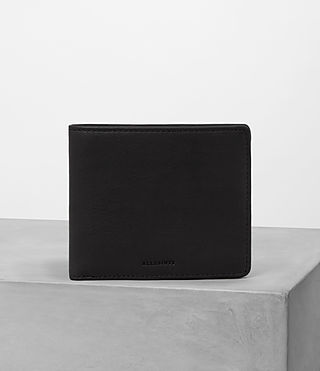 Uomo Attain Leather Cardholder (Black)