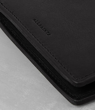 Mens Attain Leather Cardholder (Black) - product_image_alt_text_2