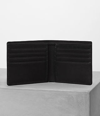 Hombre Attain Leather Cardholder (Black) - product_image_alt_text_3
