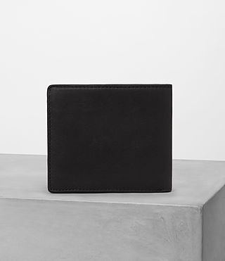 Hombre Attain Leather Cardholder (Black) - product_image_alt_text_4