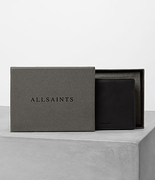 Mens Attain Leather Cardholder (Black) - product_image_alt_text_5