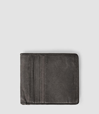 Hommes Hawk Leather Wallet (Slate Grey)