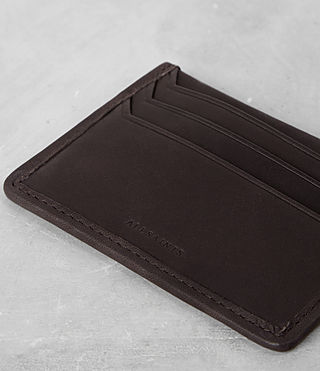 Mens Shard Leather Cardholder (Bitter Choc) - product_image_alt_text_2