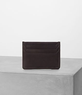 Mens Shard Leather Cardholder (Bitter Choc) - product_image_alt_text_3