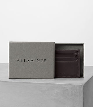 Mens Shard Leather Cardholder (Bitter Choc) - product_image_alt_text_4