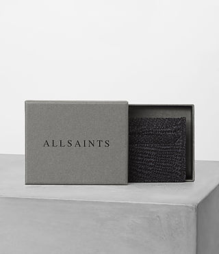 Mens Shard Cardholder (Black Suede) - product_image_alt_text_4