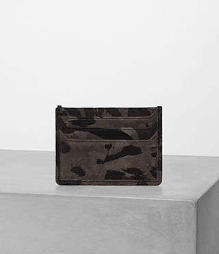 Mens Shard Leather Cardholder (FLOC CAMO)