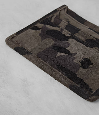 Mens Shard Leather Cardholder (FLOC CAMO) - product_image_alt_text_2